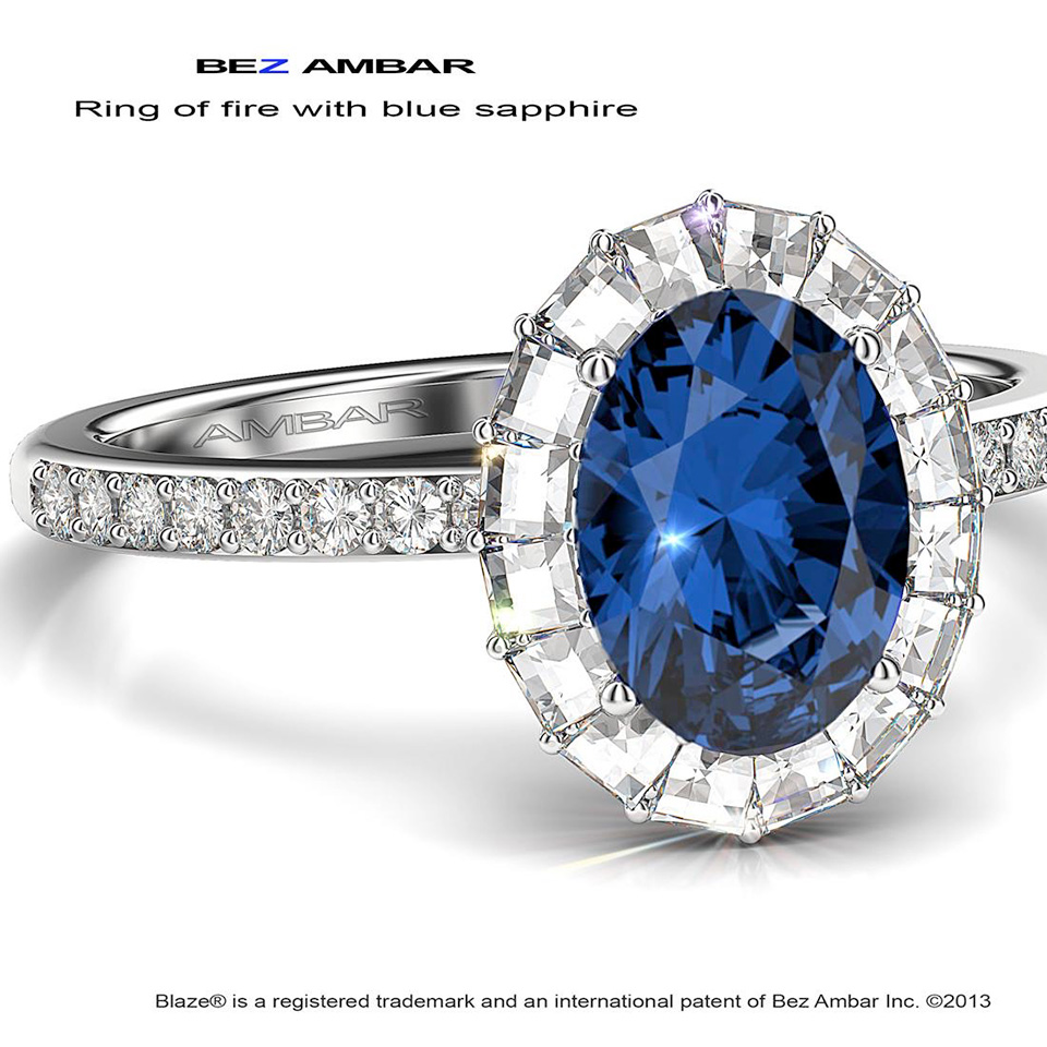 Gallery - Bridal - Ring of Fire with blue Sapphire