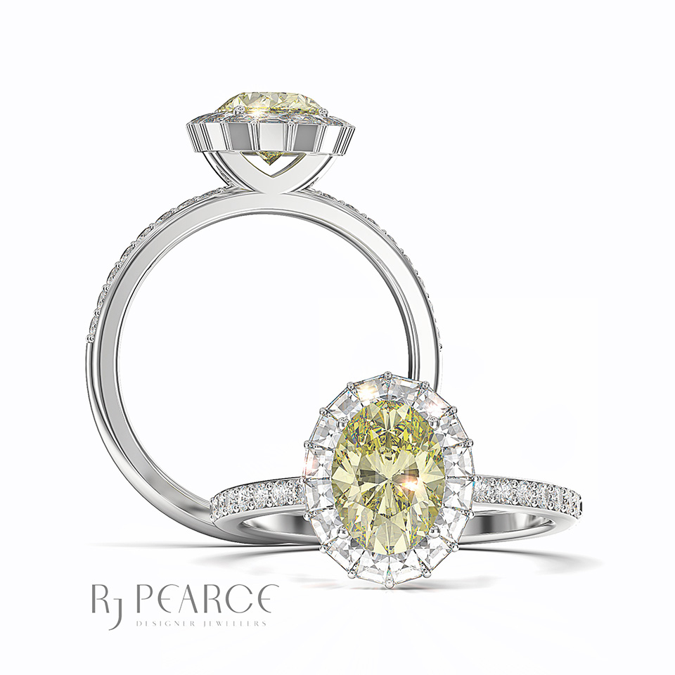Gallery - Bridal - Ring of Fire with yellow stone